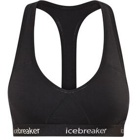 Icebreaker Sprite Biustonosz sportowy Kobiety czarny